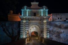 Πύλη πόλεων Mdina Στοκ Εικόνα