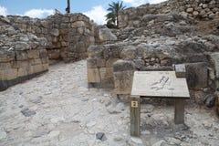 Πύλη πόλεων Megiddo Στοκ Εικόνες