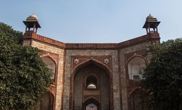 Πύλη στον τάφο Humayun Στοκ Εικόνες