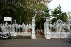 Πύλη στο βοτανικό κήπο Pamplemousses Στοκ φωτογραφία με δικαίωμα ελεύθερης χρήσης