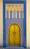 Πύλη στο παλάτι του βασιλιά του Μαρόκου Στοκ φωτογραφία με δικαίωμα ελεύθερης χρήσης