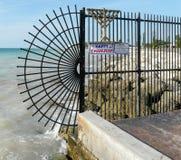 Πύλη στο τέλος της Key West Στοκ εικόνα με δικαίωμα ελεύθερης χρήσης