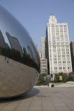Πύλη σύννεφων ή το φασόλι στο Millennium Park του Σικάγου Στοκ φωτογραφίες με δικαίωμα ελεύθερης χρήσης