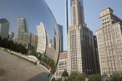 Πύλη σύννεφων ή το φασόλι στο Millennium Park του Σικάγου Στοκ εικόνα με δικαίωμα ελεύθερης χρήσης