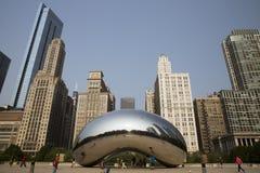 Πύλη σύννεφων ή το φασόλι στο Millennium Park του Σικάγου Στοκ Φωτογραφίες