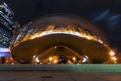 Πύλη σύννεφων τη νύχτα, Σικάγο Στοκ Εικόνες