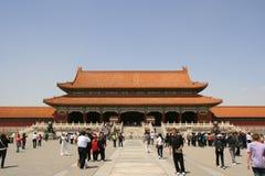 Πύλη της ανώτατης αρμονίας - απαγορευμένη πόλη - Πεκίνο - Κίνα Στοκ εικόνες με δικαίωμα ελεύθερης χρήσης