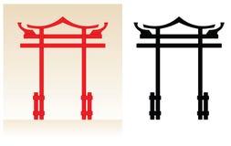 Πύλη της Ιαπωνίας διανυσματική απεικόνιση