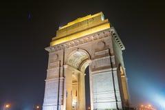 Πύλη της Ινδίας ένα πολεμικό μνημείο στο Νέο Δελχί Ινδία Στοκ Εικόνες