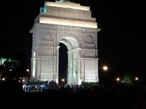 Πύλη της Ινδίας, θέση τουριστών του Δελχί, Ινδία Στοκ Εικόνα