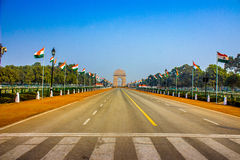 Πύλη της Ινδίας μετά από την παρέλαση Στοκ Εικόνες
