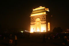 Πύλη της Ινδίας - Νέο Δελχί - Ινδία Στοκ Εικόνα