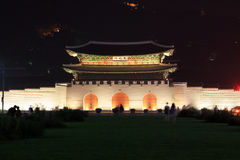 Πύλη της Κορέας Σεούλ Gwanghwamun στοκ εικόνες