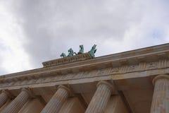 Πύλη του Βραδεμβούργου - η μόνη επιζούσα πύλη πόλεων, αρχικός τους Στοκ Εικόνες