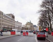 Πύλη του Βραδεμβούργου - η μόνη επιζούσα πύλη πόλεων Στοκ φωτογραφία με δικαίωμα ελεύθερης χρήσης