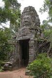 Πύλη του ναού TA Prohm, Angkor Wat, Καμπότζη Στοκ Εικόνα