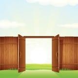 Πύλη του χωριού ξυλείας Διανυσματική εικόνα για το σχέδιό σας Στοκ Εικόνες