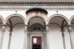 Πύλη του della Santissima Annunziata βασιλικών Στοκ Φωτογραφίες