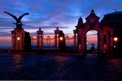 Πύλη του Habsbourg στο Buda Castle, Βουδαπέστη, Ουγγαρία Στοκ Φωτογραφίες