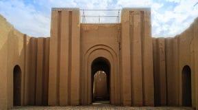 Πύλη των μερικώς αποκατεστημένων καταστροφών Babylon, Hillah Ιράκ στοκ φωτογραφίες με δικαίωμα ελεύθερης χρήσης