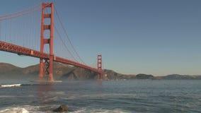 πύλη χρυσό SAN Francisco γεφυρών απόθεμα βίντεο