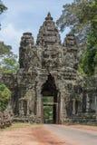 Πύλη Angkor Thom, Καμπότζη Στοκ Φωτογραφία
