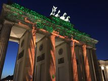 Πύλη Brandenbug σκαπανών Brandenburger στο Βερολίνο Στοκ εικόνες με δικαίωμα ελεύθερης χρήσης