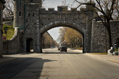 Πύλη Dauphine Porte, θέση δ ` Youville, πόλη του Κεμπέκ Στοκ φωτογραφία με δικαίωμα ελεύθερης χρήσης