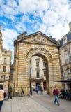 Πύλη Dijeaux στο Μπορντώ, Γαλλία Στοκ εικόνες με δικαίωμα ελεύθερης χρήσης