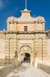 Πύλη entrence Mdina, στη Μάλτα Στοκ φωτογραφία με δικαίωμα ελεύθερης χρήσης