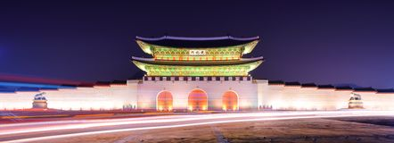 Πύλη Gwanghwamun στη Σεούλ στοκ εικόνες