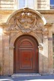 Πύλη Hotel de Roquesante (1656). Aix-En-Provence, Γαλλία Στοκ Εικόνες