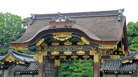 Πύλη Karamon της τάφρου κάστρων Nijo στο Κιότο Στοκ Φωτογραφία