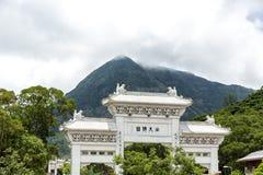 Πύλη Po Lin στο ναό και μεγάλο budda Tian Tan Βούδας στο Χονγκ Κονγκ, Στοκ φωτογραφία με δικαίωμα ελεύθερης χρήσης
