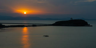 Πύλη Portara στο ηλιοβασίλεμα, Νάξος, Ελλάδα Στοκ Εικόνες
