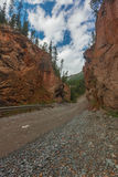 Πύλη RAD οι ημέρες altai διαρκούν το καλοκαίρι βουνών Ρωσία Στοκ φωτογραφία με δικαίωμα ελεύθερης χρήσης