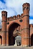 Πύλη Rossgarten - οχυρό Koenigsberg. Kaliningrad, Ρωσία Στοκ Φωτογραφία