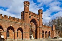 Πύλη Rossgarten. Kaliningrad (μέχρι το 1946 Koenigsberg), Ρωσία στοκ εικόνα