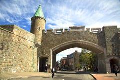 Πύλη ST-John στην πόλη του Κεμπέκ Στοκ φωτογραφία με δικαίωμα ελεύθερης χρήσης