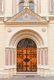 Πύλη Sts Cyril και της εκκλησίας Methodius (1880) Ζάγκρεμπ, Κροατία Στοκ Εικόνες