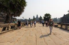 Πύλη Wat Angkor Στοκ Εικόνες