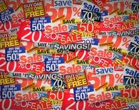 πώληση έκπτωσης δελτίων ανασκόπησης Στοκ εικόνα με δικαίωμα ελεύθερης χρήσης