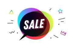Πώληση Έμβλημα, λεκτική φυσαλίδα, αφίσα Στοκ Εικόνες