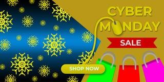 Πώληση Δευτέρας Cyber, μαύρη πώληση Παρασκευής Απεικόνιση αποθεμάτων