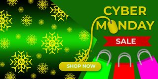 Πώληση Δευτέρας Cyber, μαύρη πώληση Παρασκευής Διανυσματική απεικόνιση
