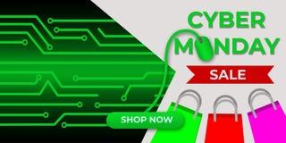 Πώληση Δευτέρας Cyber, μαύρη πώληση Παρασκευής Ελεύθερη απεικόνιση δικαιώματος