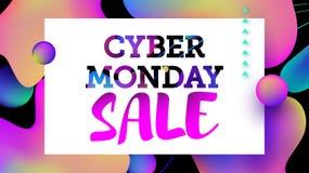 Πώληση Δευτέρας Cyber Στοκ φωτογραφία με δικαίωμα ελεύθερης χρήσης