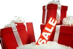 πώληση δώρων Χριστουγέννων στοκ εικόνα με δικαίωμα ελεύθερης χρήσης