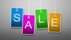 Πώληση ζωτικότητας Φωτεινό κείμενο στις κάρτες ελεύθερη απεικόνιση δικαιώματος