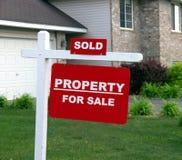 πώληση ιδιοκτησίας Στοκ Εικόνα